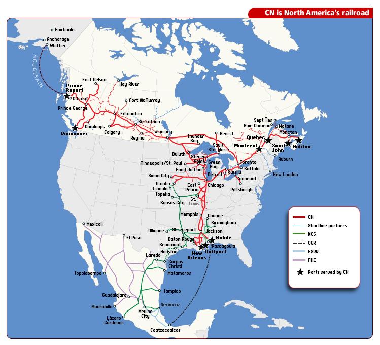 north america railroad network map en market mad house